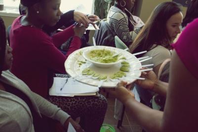 Dégustation de purées nutrititives